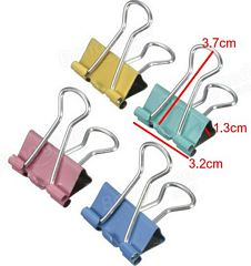 5pcs Metal Binder Clip Mix Color Paper Clips For Office And